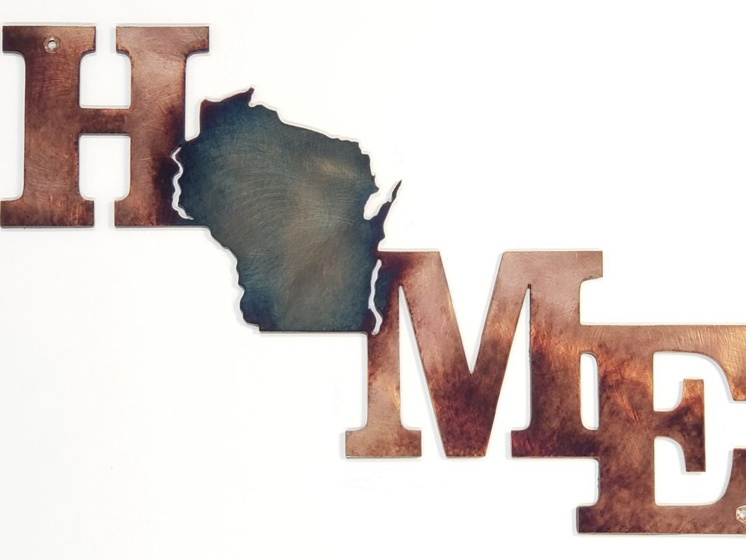 05 home is a state of mind Metal Wall Art Metal Dècor Studios